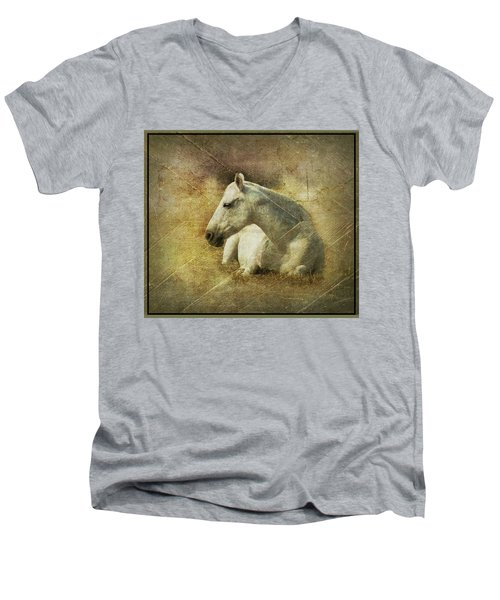 White Horse Art Men's V-Neck T-Shirt