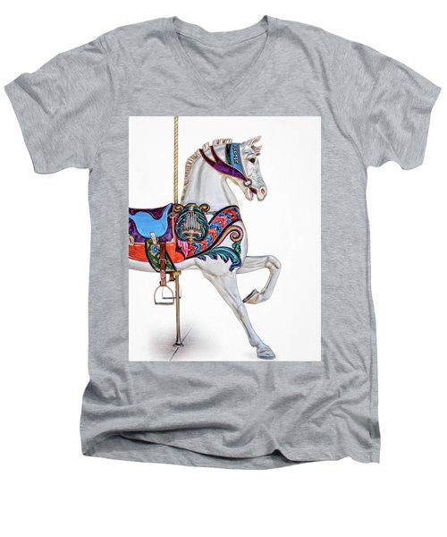 White Horse Of The Carousel Men's V-Neck T-Shirt