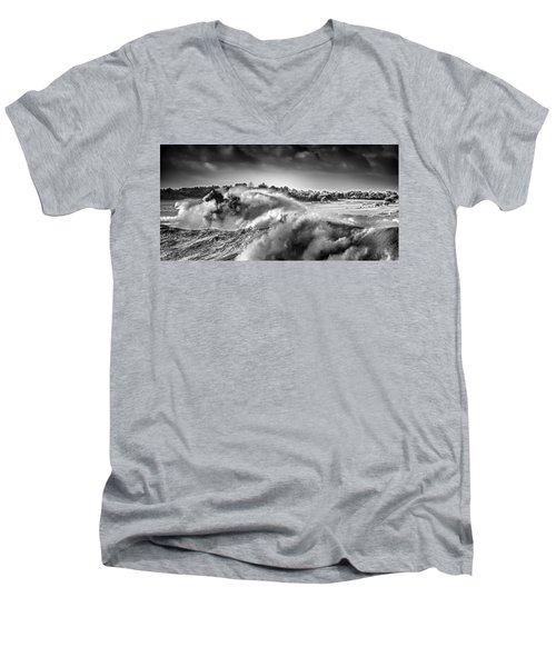 White Horses Men's V-Neck T-Shirt