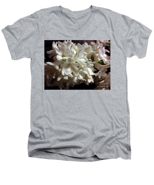 White Hyacinth Men's V-Neck T-Shirt