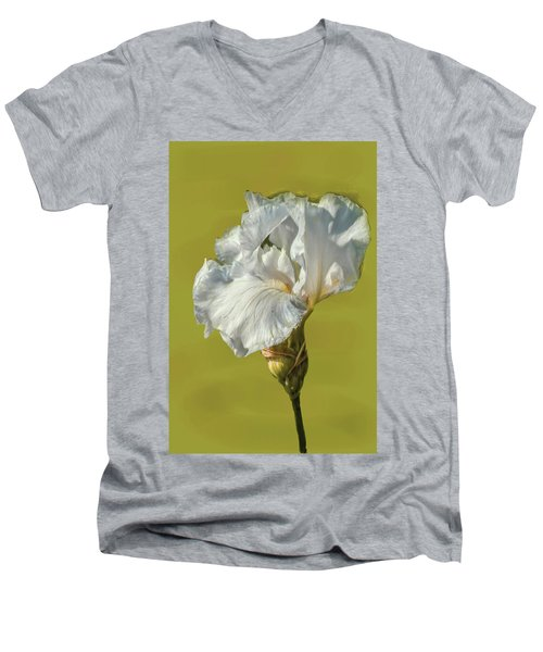 White Iris June 2016 Artistic.  Men's V-Neck T-Shirt