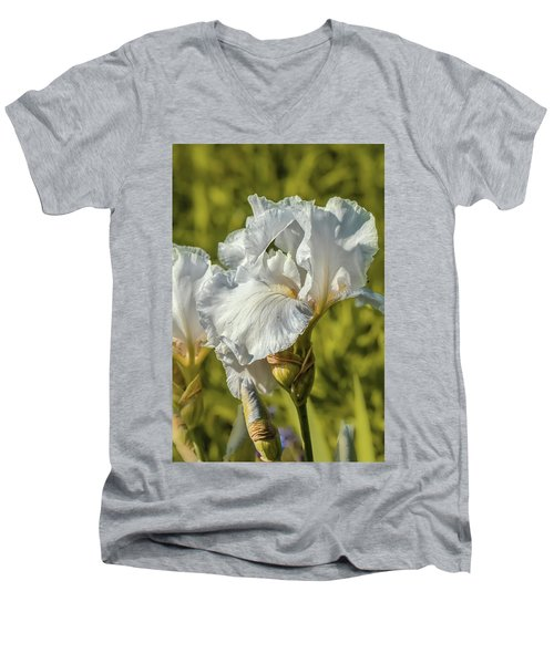 White Iris June 2016.  Men's V-Neck T-Shirt