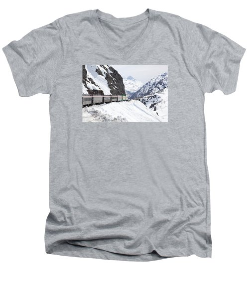 White Journey Men's V-Neck T-Shirt
