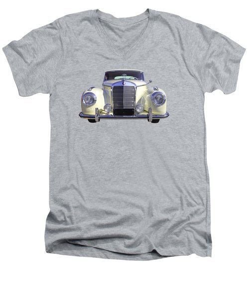 White Mercedes Benz 300 Luxury Car Men's V-Neck T-Shirt