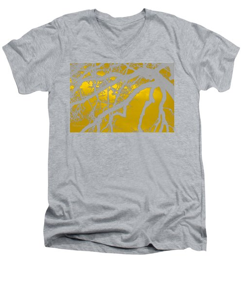 White Oak -yellow Orange Men's V-Neck T-Shirt by Tom Janca