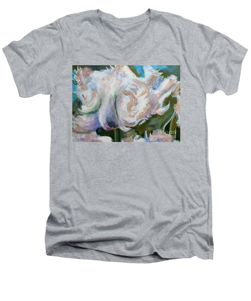 White Parrot Men's V-Neck T-Shirt