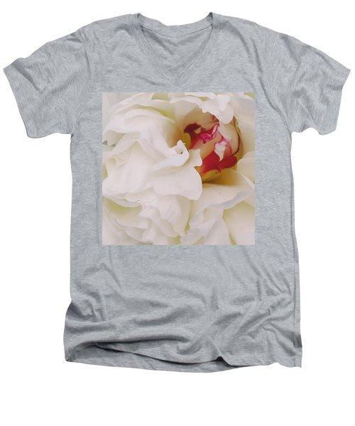 White Petals Men's V-Neck T-Shirt