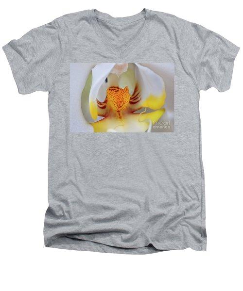 White Phalaenopsis Orchid 2 Men's V-Neck T-Shirt