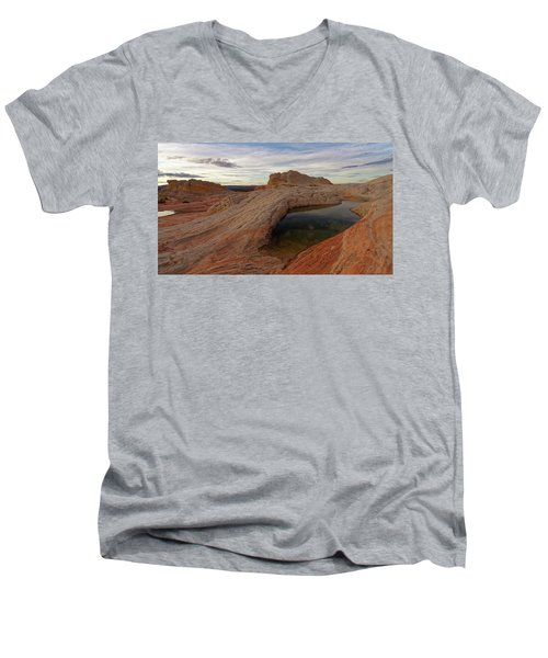 Men's V-Neck T-Shirt featuring the photograph White Pocket Reflecton by Jonathan Davison