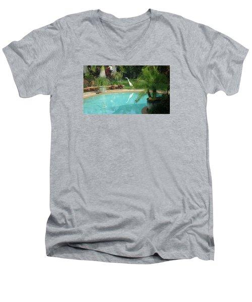 White Reflection Men's V-Neck T-Shirt by Val Oconnor