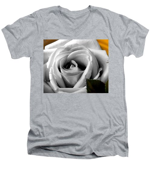 White Rose 2 Men's V-Neck T-Shirt
