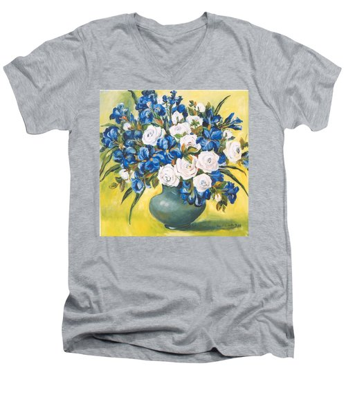 White Roses Men's V-Neck T-Shirt