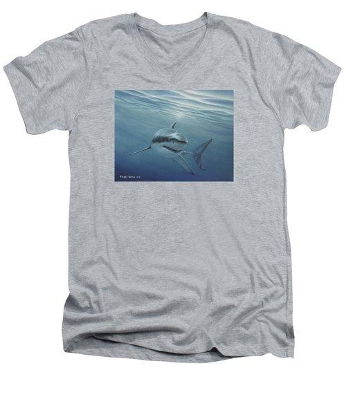 White Shark Men's V-Neck T-Shirt