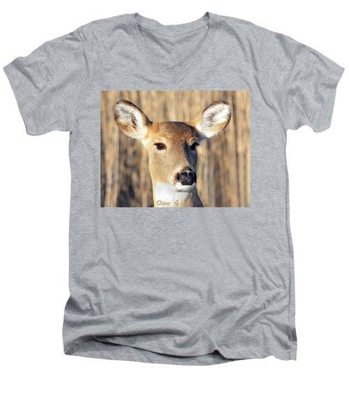White-tailed Deer Men's V-Neck T-Shirt by Diane Giurco
