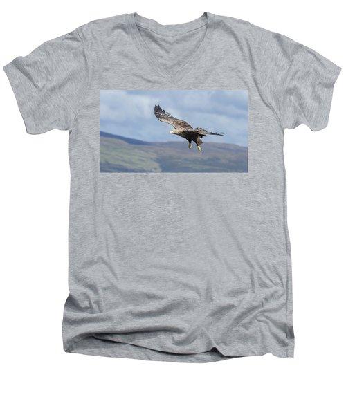 White-tailed Eagle On Mull Men's V-Neck T-Shirt