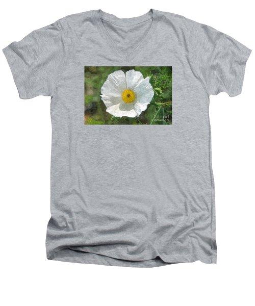 White Thistle Men's V-Neck T-Shirt