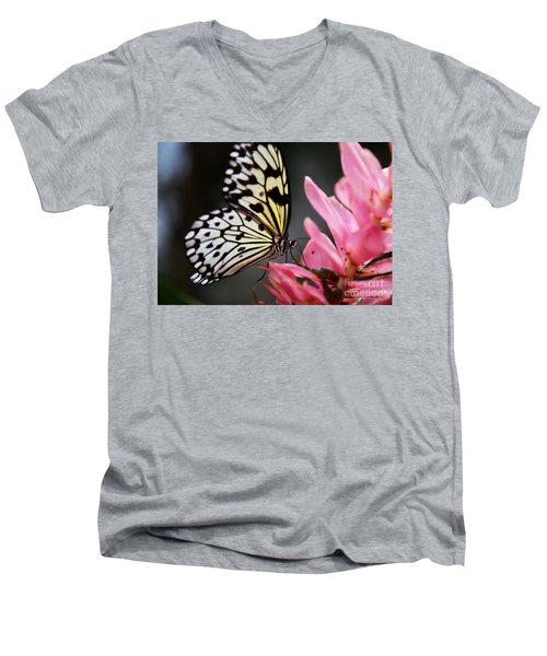 White Tree Nymph Men's V-Neck T-Shirt