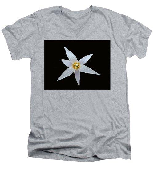 White Trout Lily Men's V-Neck T-Shirt