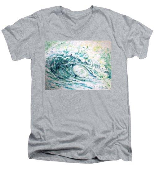 White Wash Men's V-Neck T-Shirt by William Love