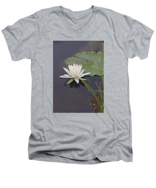 White Water Lotus Men's V-Neck T-Shirt