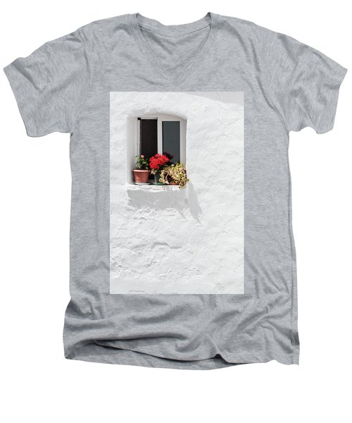 White Window Men's V-Neck T-Shirt