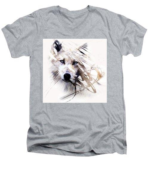 White Wolf Men's V-Neck T-Shirt