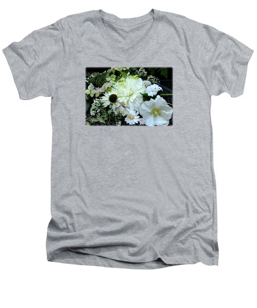 Whites And Pastels Men's V-Neck T-Shirt by Tanya Searcy