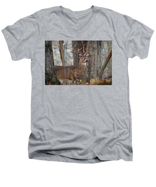 Whitetail #60 Men's V-Neck T-Shirt