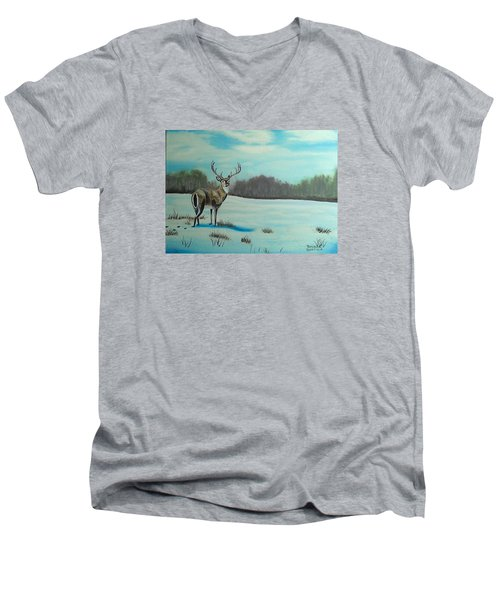 Whitetail Buck Men's V-Neck T-Shirt