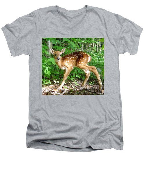 Whitetail Fawn Men's V-Neck T-Shirt