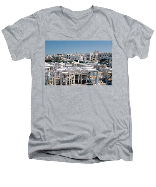 Whitewashed Naoussa Men's V-Neck T-Shirt