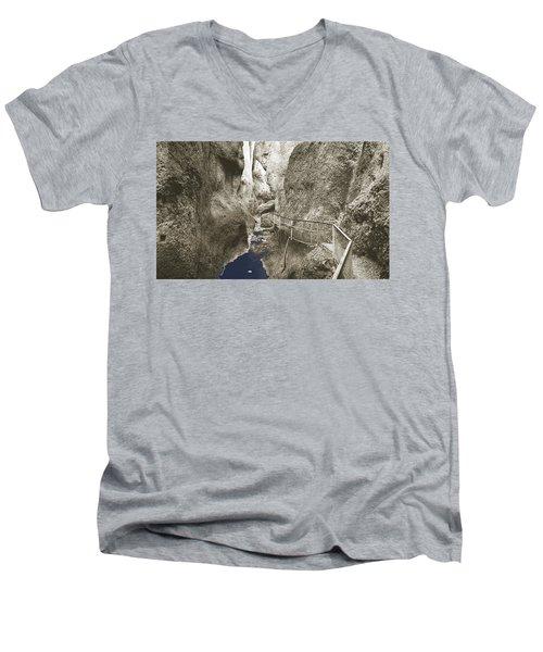 Whitewater Blu Men's V-Neck T-Shirt by Jan W Faul