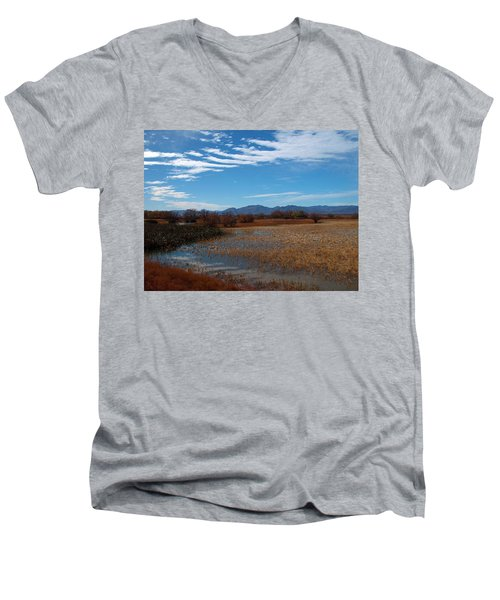 Men's V-Neck T-Shirt featuring the photograph Whitewater Draw by James Peterson