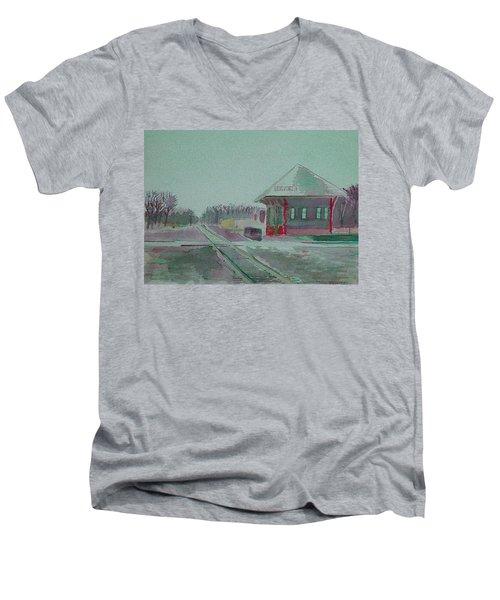Whitewater Rail Station Men's V-Neck T-Shirt