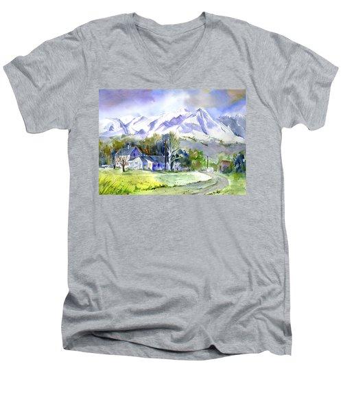 Whitney's White House Ranch Men's V-Neck T-Shirt