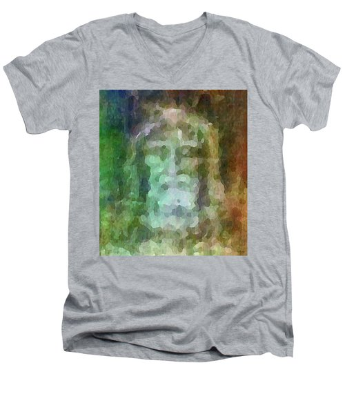 Who Do Men Say That I Am - The Shroud Men's V-Neck T-Shirt