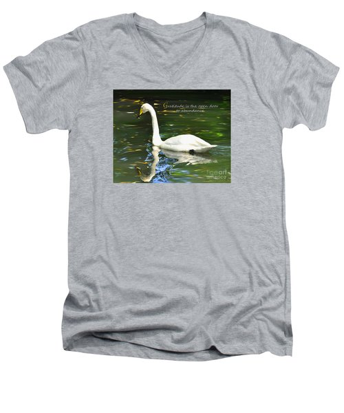 Whooper Swan Gratitude Men's V-Neck T-Shirt