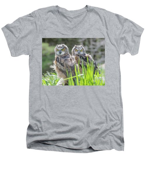 Whoos Watching Me Men's V-Neck T-Shirt