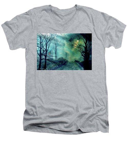 Whorlton Castle Men's V-Neck T-Shirt