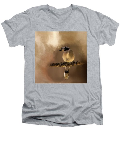 Who's There? Men's V-Neck T-Shirt by Cyndy Doty