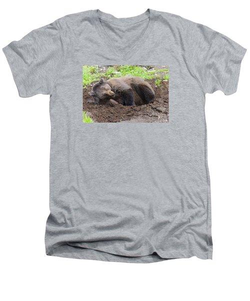 Whose Making Noise Men's V-Neck T-Shirt by Harold Piskiel