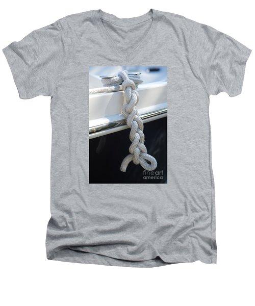 Why Knot? Men's V-Neck T-Shirt by Sandy Molinaro