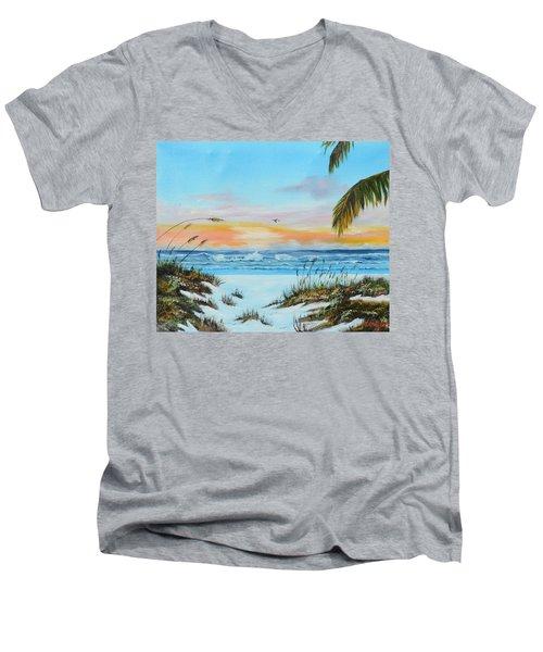Why Not Siesta Key Men's V-Neck T-Shirt by Lloyd Dobson
