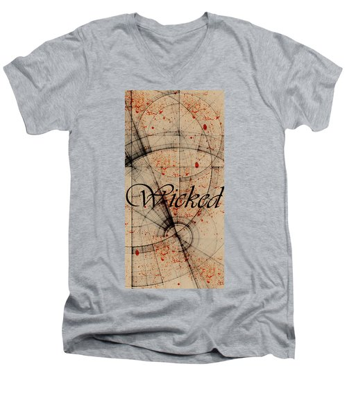 Wicked Men's V-Neck T-Shirt by Cynthia Powell