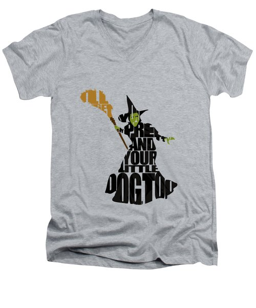 Wicked Witch Of The West Men's V-Neck T-Shirt by Ayse Deniz