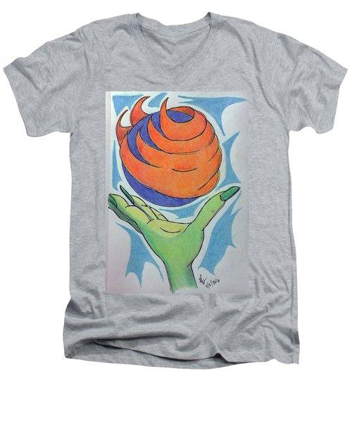 Wicket Fireball Men's V-Neck T-Shirt
