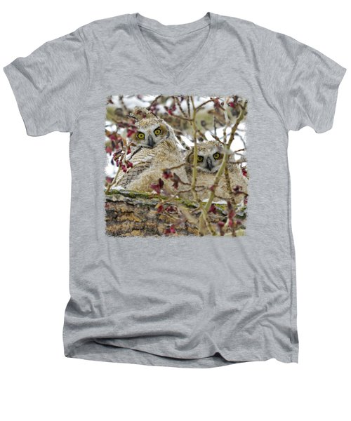 Wide-eyed Wonders Men's V-Neck T-Shirt by Dee Cresswell
