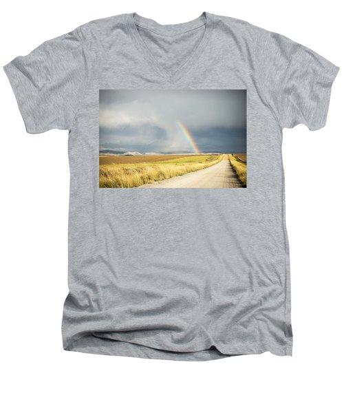 Wide Open Spaces Men's V-Neck T-Shirt