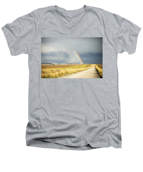 Wide Open Spaces Men's V-Neck T-Shirt