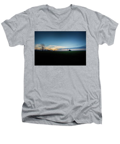 Men's V-Neck T-Shirt featuring the photograph Wide Open Spaces by Shane Holsclaw